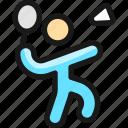badminton, player