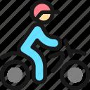 biking, helmet, person