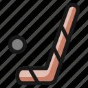 hockey, puck, stick