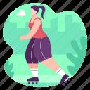 skating, skateboard, skate, woman, sports, game
