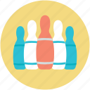 bowling pins, hitting pins, bowling game, alley pins, sports