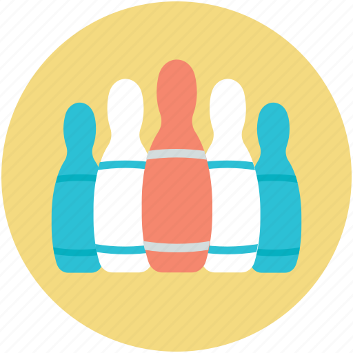 alley pins, bowling game, bowling pins, hitting pins, sports icon