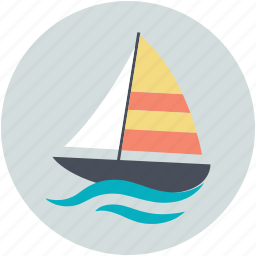 boat, gaff cutter, sailboat, sailing ship, yacht icon