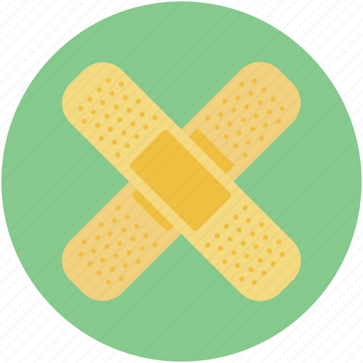 Adhesive bandage, band aid, bandage, first aid plaster, sticking plaster icon - Download on Iconfinder