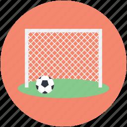 football goal, football goal post, football net, handball net, soccer net icon