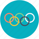 international sporting, olympics, olympics game, olympics rings, olympics symbol icon
