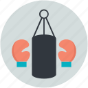 boxing gloves, boxing, speed-bag, punching bag, boxing practice