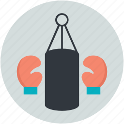 boxing, boxing gloves, boxing practice, punching bag, speed-bag icon