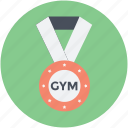 gym medal, medal, position medal, prize, reward icon