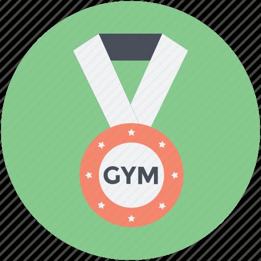 gym medal, medal, position medal, prize, reward icon