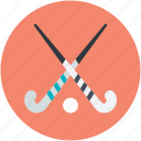 hockey, hockey equipment, hockey stick, sports, sports equipment icon