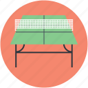 badminton table, ping pong, sports, squash table, tennis table icon