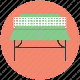 badminton table, ping pong, sports, squash table, tennis table icon