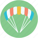 gliding parachute, parachute, parachuting, paratrooper, skydiving icon