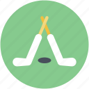 hockey stick, ice hockey, puck, sports icon