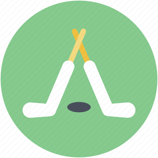 hockey stick, ice hockey, puck, sports icon