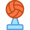 sports award, sports trophy, victory, volleyball trophy, winning cup icon