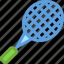 badminton racket, racket, sports, squash racket, tennis racket icon