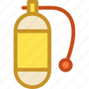 nitrous oxide, oxygen cylinder, oxygen tank, scuba, snorkeling icon