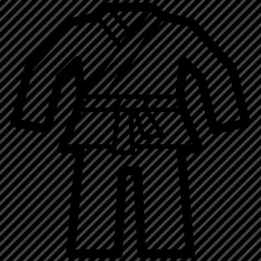 art, karate, martial, sport, suit, uniform icon