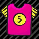 attire, players shirt, sports apparel, sports shirt, sports uniform icon