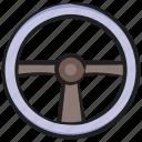 car steering, controle wheel, directing steering, handling steering, steering icon