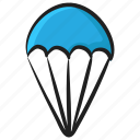 airdive, airdrop, airlift, parachute, paragliding, skydive icon