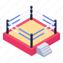 wrestling ring, boxing ring, wrestling field, boxing field, wrestling match icon