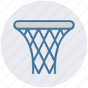 backboard, basketball, goal, hoop, net, shot, sports icon