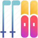 poles, ski, skiing, skis, snow, sports, winter icon