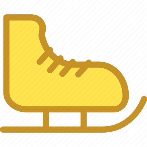 ice shoes, ice skates, sports equipment, sports shoes, winter sports icon