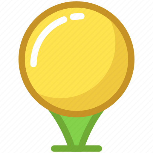 ball tee, golf ball, golf ball pin, golf tee, on tee icon