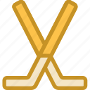 hockey stick, ice hockey, sports, sports equipment, winter sports icon