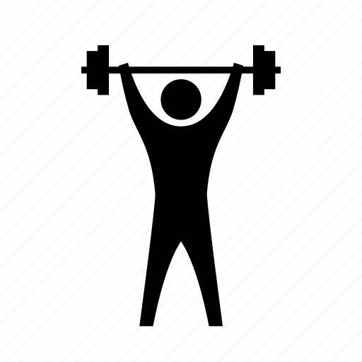 athletics, barbell, exercise, fitness, lifting, sport, strength icon