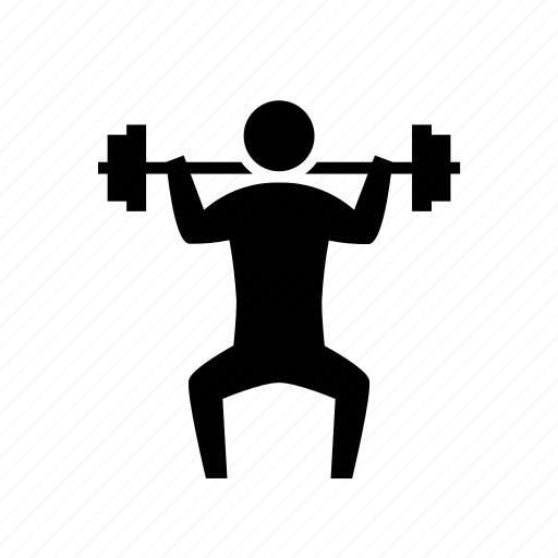 athletics, barbell, exercise, fitness, sit up, sport, strength icon