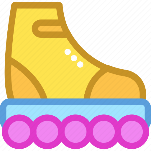 roller skates, rollerblading, skates, skates shoes, wheel shoes icon