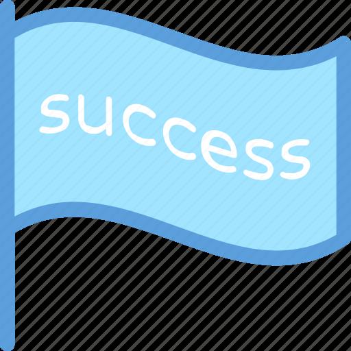 achievement, success flag, victory, win, winning flag icon