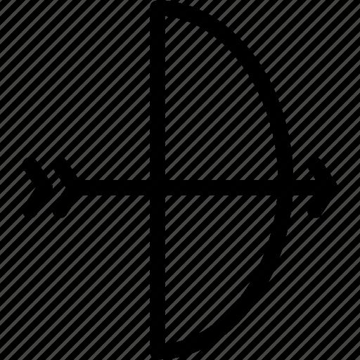 aim, archer, archery, arrow, bow, bullseye, creative, grid, individual, line, outdoor, shape, shoot, shooting, sports, target, team icon