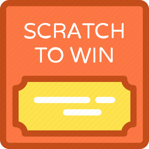 chance, gambling, lottery, scratch card, ticket icon