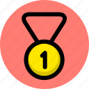 gold medal, medal, sport, win, winner icon