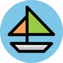 sailboat, sea, sport, travel icon