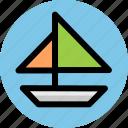 sailboat, sea, sport, travel icon
