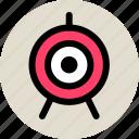 aim, bullseye, goal, sport, target icon