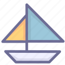 sailboat, sea, sport icon