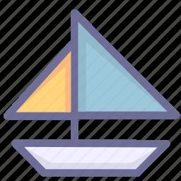 sailboat, sea, sport icon