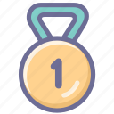 award, excellent, good, medal, nice, success, win icon