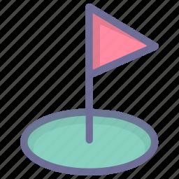 golf, sport, target icon