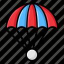 air balloon, air diving, airdroop, parachute, skydiving icon