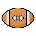 football, rugby, rugby ball, rugby equipment, sports ball icon