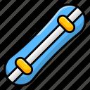 ski gear, skiing equipment, snowboard, sports accessory, sports instrument icon